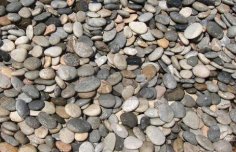 River Pebbles 0 701-White Silver Flat