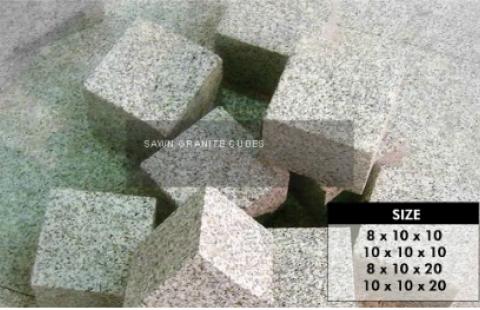 Sawn Granite Cubes